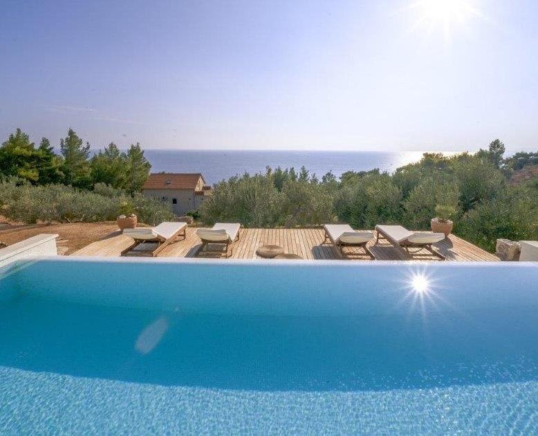 pool at hvar villa rental villa perka